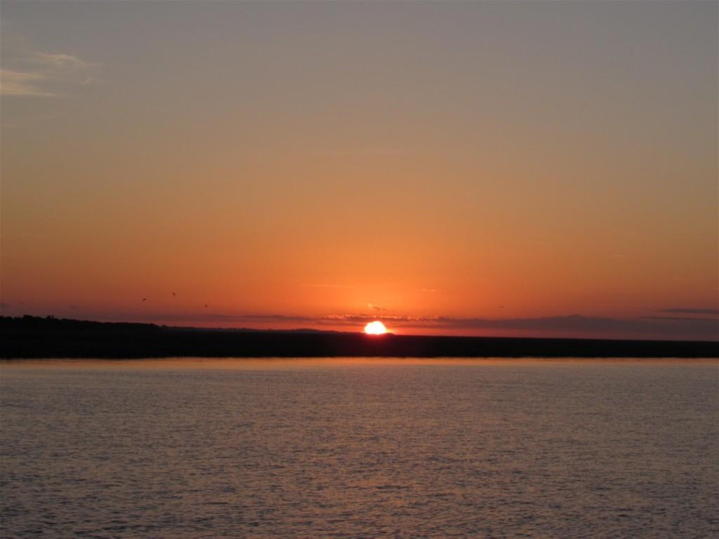 Sunrise over Awendaw Creek